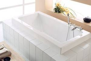 Contemporary Rectangle Tub with Air System