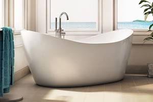Eidel Weiss Double Slipper Freestanding Tub