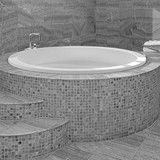 Deep Round Tub with a Seat