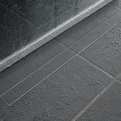 Long, Thin Shower Drain with Tile