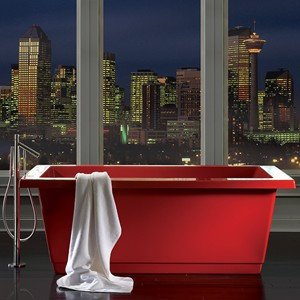 Modern Rectangle Freestanding Bath in Red