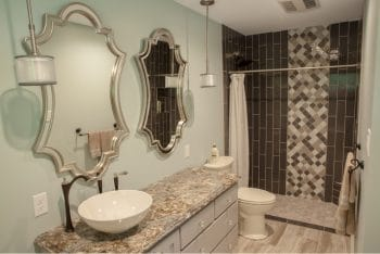 Vanity & Shower Area