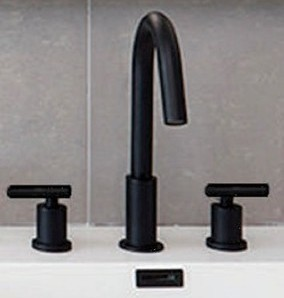 Matte Black Opera Widespread Sink Faucet