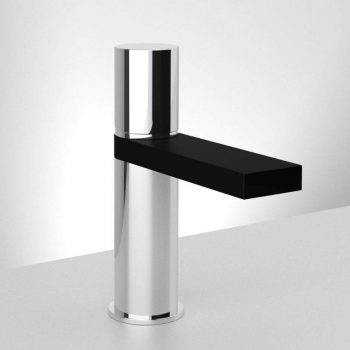 Chrome & Black Single Hole Sink Faucet