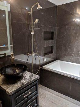 Wet Room Drop-in Bathtub on Wet Room With Freestanding Tub  id=88370