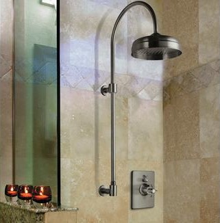 Exposed Column Shower Head with Thermostatic Controls