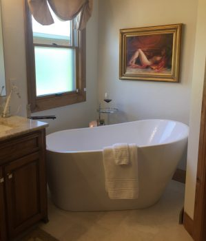 After: Freestanding Bath in The Corner