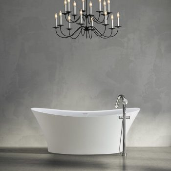 Oval Bath with Two Raised Backrests
