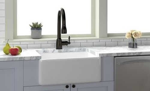 White Fire Clay Farmhouse Sink