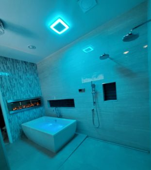Tub is Beside Open Shower